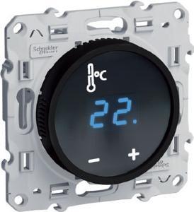 schneider odace thermostat cran tactile fil pilote s520509. Black Bedroom Furniture Sets. Home Design Ideas